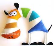 Детская плюшевая игрушка подушка-зверюшка