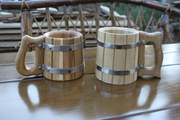Кружки деревянные из дуба.