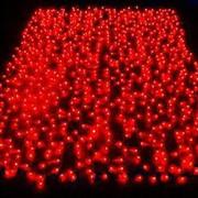 Уличный светодиодный занавес,  185 св,  Ш0.6*В3 м,  цвет красный,  Neo-Neo