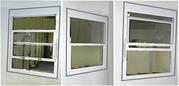 Канадские подъемные окна из алюминия .